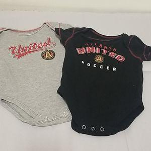 ⚽️Unisex Atlanta United Baby Bodysuits